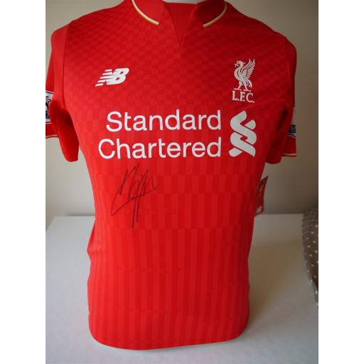 JURGEN KLOPP SIGNED LIVERPOOL 2015/16 HOME SHIRT
