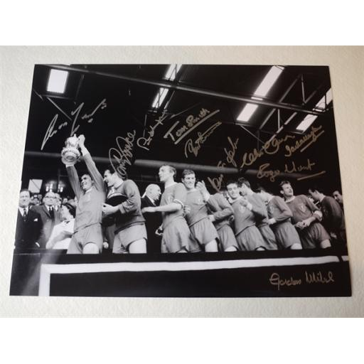 LIVERPOOL 1965 FA CUP WINNERS SIGNED RANGE - 1965 FA CUP FINAL 16X12 ROYAL BOX PHOTO