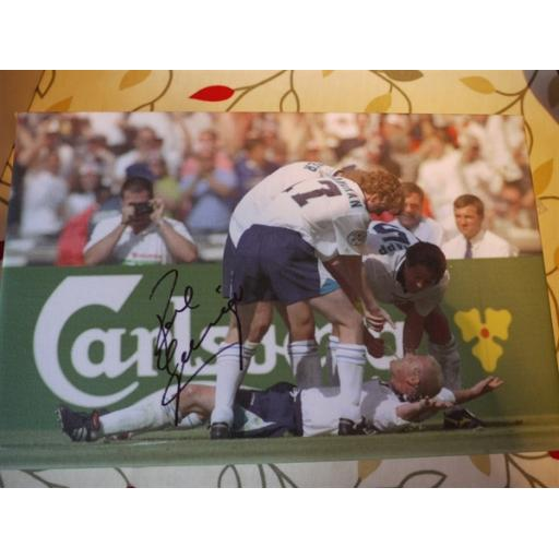 PAUL GASCOIGNE SIGNED 12X8 EURO'96 BOXED CANVAS