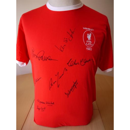 LIVERPOOL 1965 FA CUP WINNERS SIGNED RANGE - 1965 FA CUP FINAL SHIRT