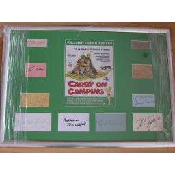 Carry On Camping multi signed & framed display (1a).jpg