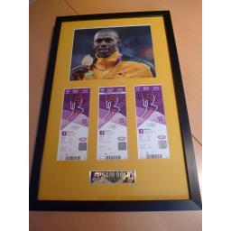 Framed Usain Bolt signed London 2012 Ticket Presentation.jpg
