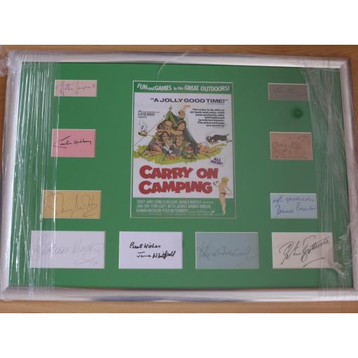 CARRY ON CAMPING SIGNED, MOUNTED & FRAMED PRESENTATION