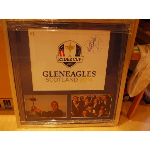 SIGNED PAUL MCGINLEY SIGNED PIN FLAG FRAMED DISPLAY - 2014 RYDER CUP WINNING CAPTAIN
