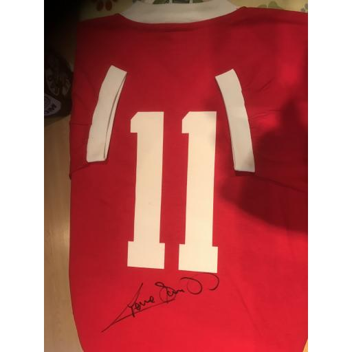 GRAEME SOUNESS SIGNED LIVERPOOL NUMBER 11 HOME SHIRT