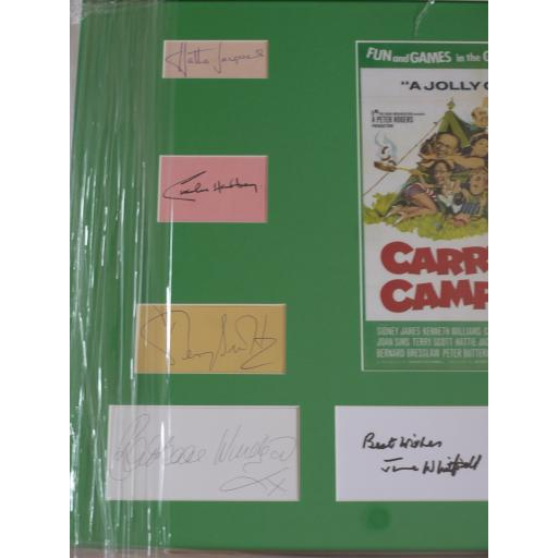 Carry On Camping multi signed & framed display (1b).jpg