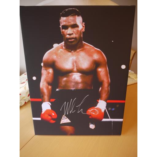 MIKE TYSON GENUINE SIGNED 20X16 BOXED CANVAS - READY TO HANG