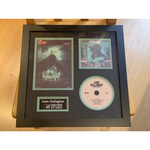 FRAMED LIAM GALLAGHER SIGNED & MOUNTED MTV UNPLUGGED POSTER & DISPLAY